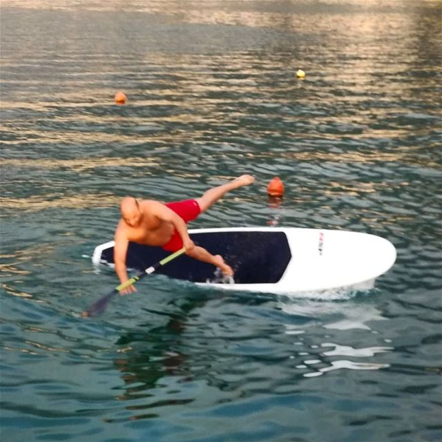 Well...it's Wednesday 🤷‍♂️... outdoors  sport  lebanon  sup  standup ... (Surf Shack Lebanon)